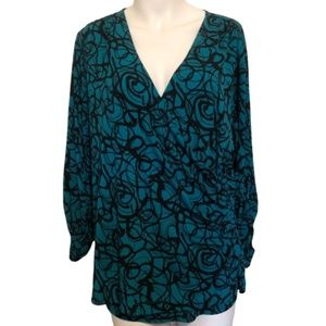 Susan Graver 3/4 Sleeve Scrunch blouse